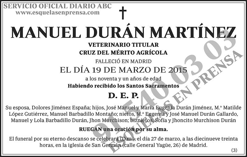 Manuel Durán Martínez